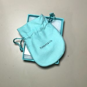 Return to Tiffany - mini double heart tag pendant